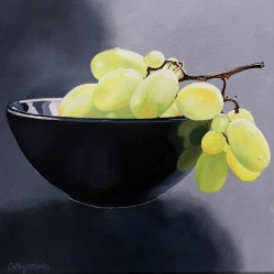 Grapes in Bowl Oil Painting