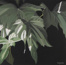Mulberry Leaves Acrylic Painting